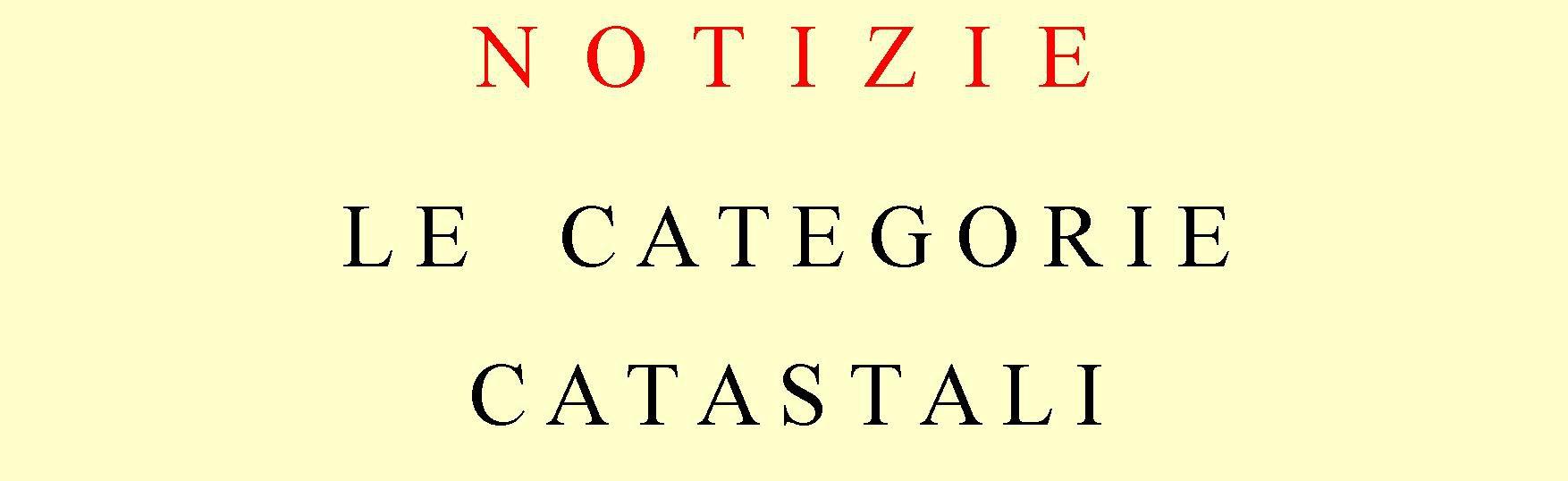 BANNER CATEGORIE CATASTALI